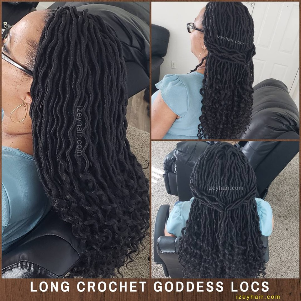 Crochet Braids - Long Goddess Locs