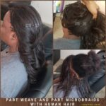 Weave and Micrbraids with 100% Human Hair