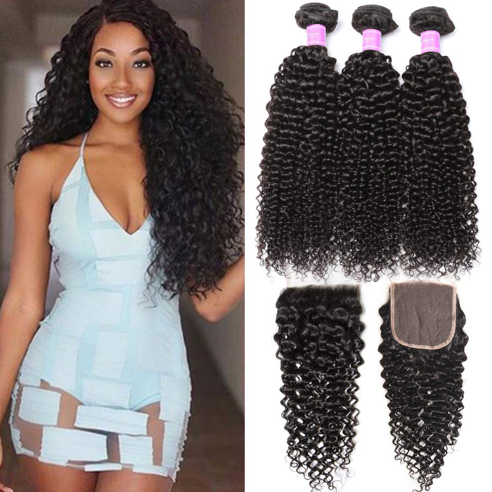 Curly Weave with lace closure