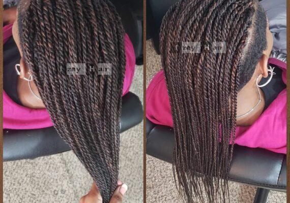 Undercut Senegalese Twists (Shaved Sides)