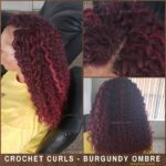 Burgundy Crochet Hair - Crochet Braids