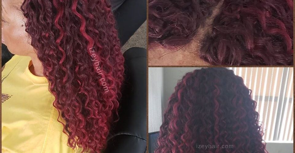 Burgundy Crochet Hair - Crochet Braids