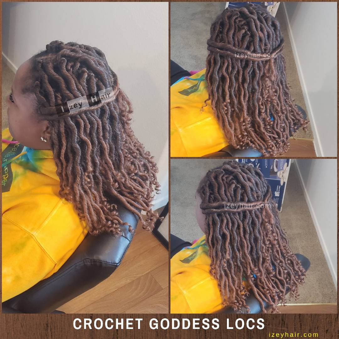 Ombre Crochet Goddess Locs - Black and Blond