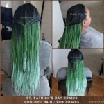 St. Patrick's Day Ombre Crochet Braids – Green Braids - Individual Box Braids