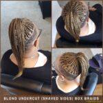 Blond Undercut (Shaved Sides) Box Braids