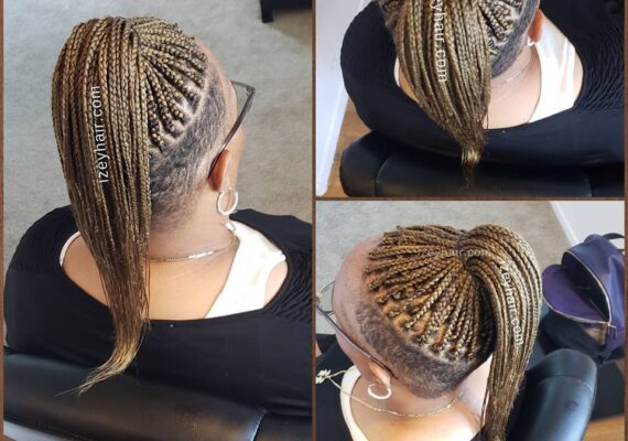 Blond Undercut (Shaved Sides) Box Braids