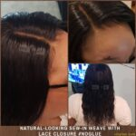 Natural-Looking Brazilian Water Wave Sew-in Weave with Lace Closure
