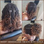 2 30 Ombre Senegalese Twists - Curly Ends