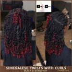 Beautiful Curly Senegalese Twists (Black With A Splash Of Burgundy)