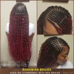Bohemian Braids - Feedin Braids - Cornrows with Individual Box Braids