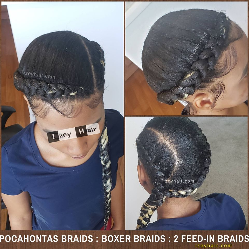 Pocahontas Braids, Boxer Braids, French Braids, 2 Braids