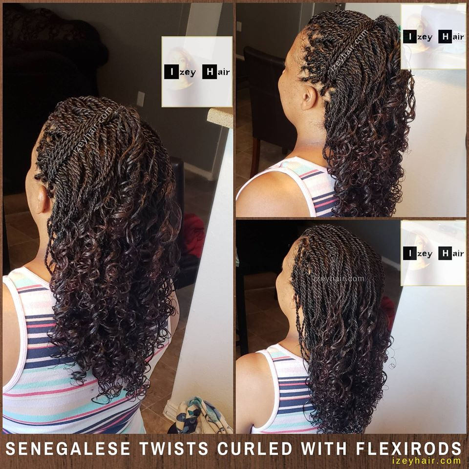 Small Curly Senegalese Twist Curled With Flexirods