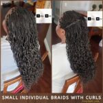 Small Individual Braids With Curls