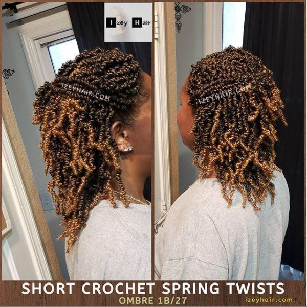Ombre Spring Twist Crochet (1B 27)