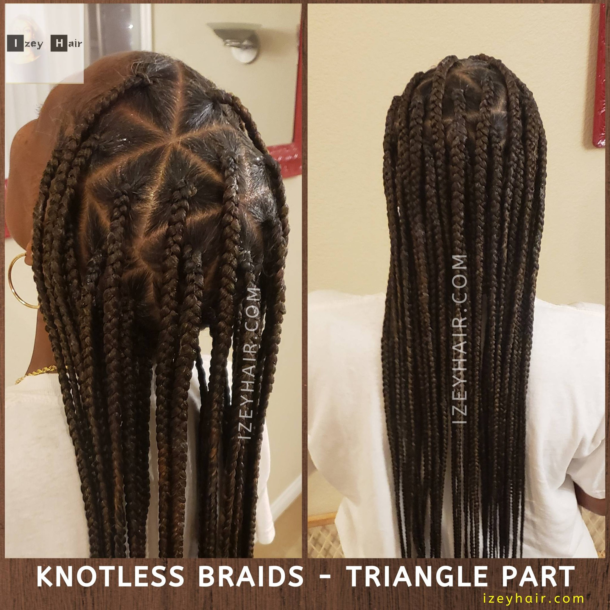 Knotless Braids - Triangle Parts