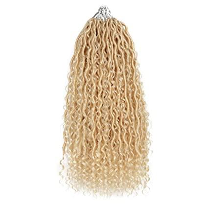 Platinum Blond Bohemian Goddess Faux Locs - Color 613