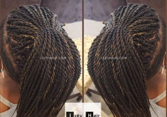 Undercut Braids - Senegalese Twists